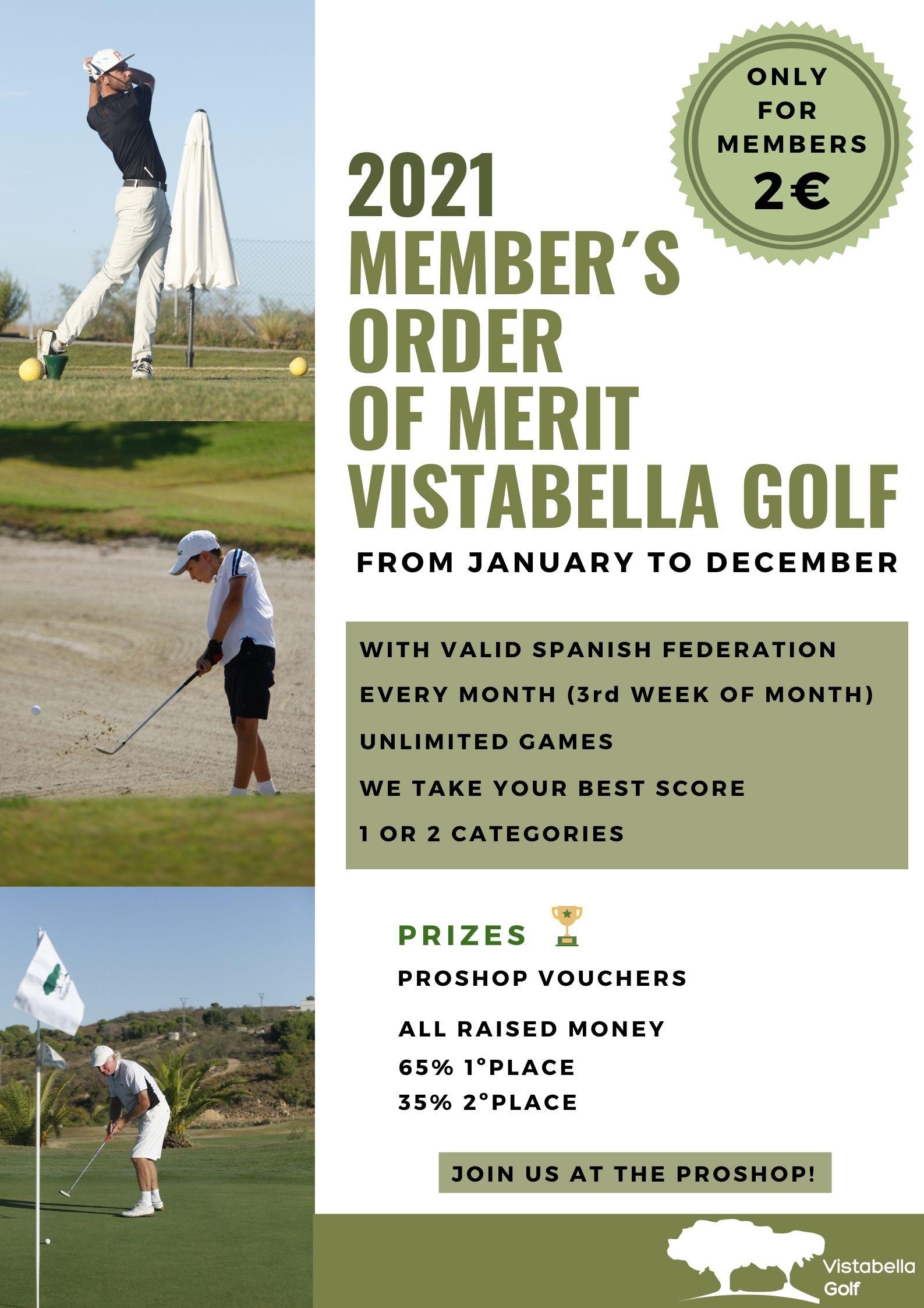 Vistabella Golf - MEMBERS ORDER OF MERIT